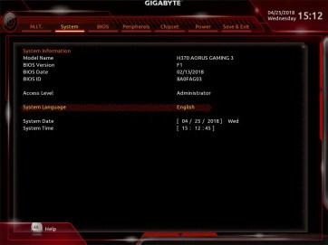 Gigabyte H370 AORUS Gaming 3 UEFI BIOS (2)