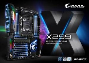 Gigabyte X299 motherboard BIOS update