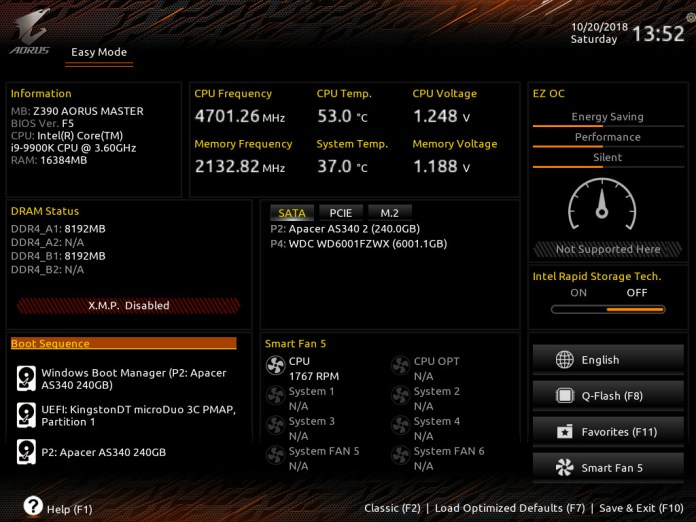 Gigabyte Z390 AORUS Master Performance Review