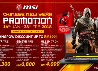 MSI CNY Promotion Discount 2018