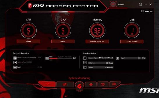 MSI Dragon Center - 01