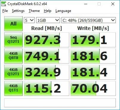 MSI GF63 8RC CrystalDiskMark