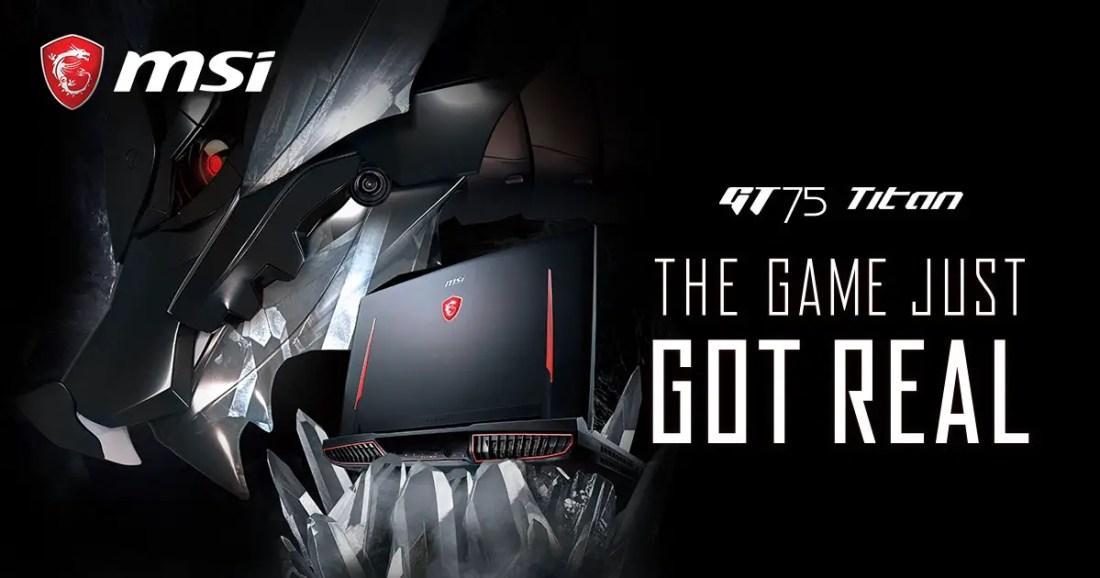 MSI GeForce RTX Gaming Notebooks GT75 Titan