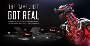 MSI Intel 9th Gen Core Processor Laptops Featured