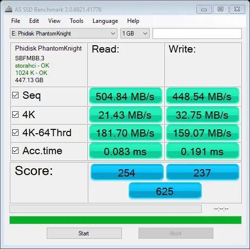 PhantomKnight II AS SSD Benchmark