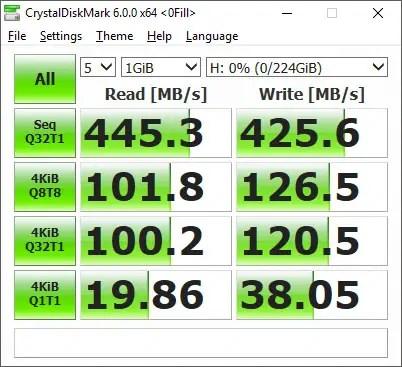 Pioneer P1 (APS-XS02) 240GB CrystalDiskMark 0fill empty drive