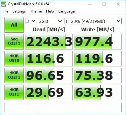 Plextor M8SeY CrystalDiskMark random fill
