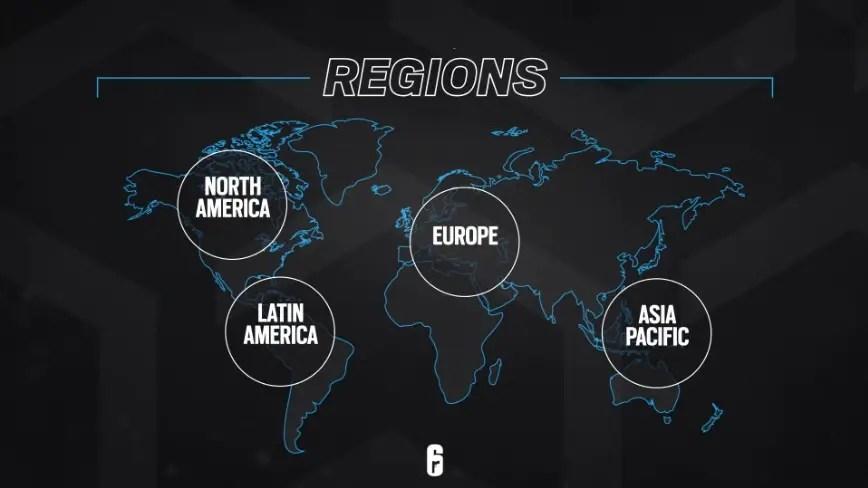 Rainbow Six Esports Region Changes