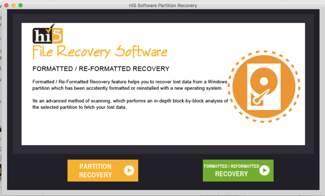 Hi5 Partition Recovery Software (Mac)