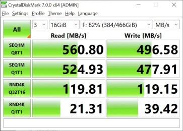 T-Force Delta Max 500GB 16GB Crystal Disk Mark (2)
