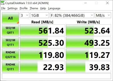 T-Force Delta Max 500GB 1GB Crystal Disk Mark (2)