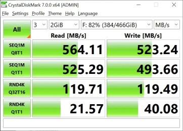 T-Force Delta Max 500GB 2GB Crystal Disk Mark (2)