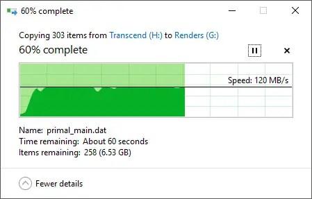 Transcend StoreJet 25M3S File Transfer Out