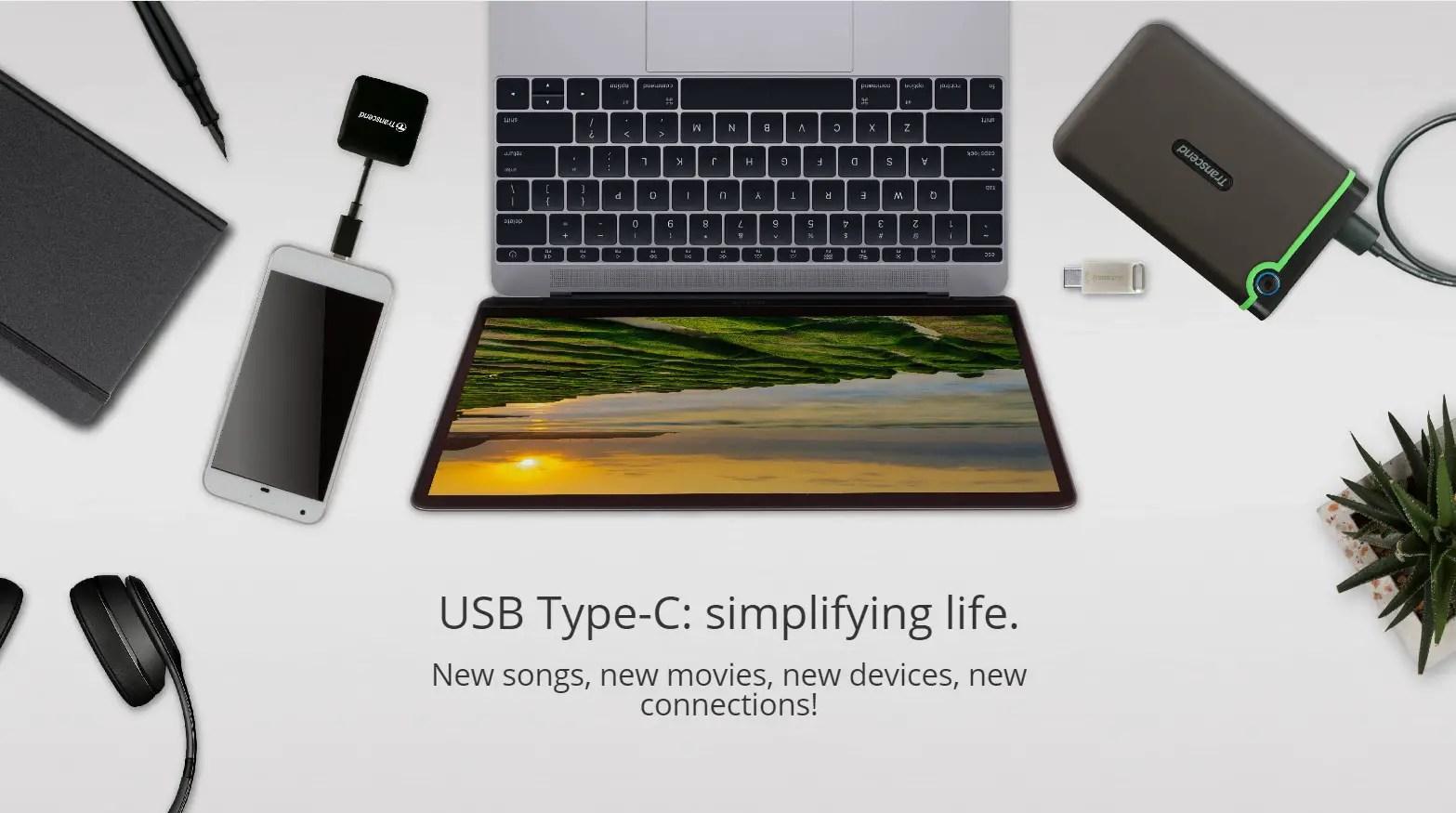 Transcend offers comprehensive solutions for USB Type-C standard