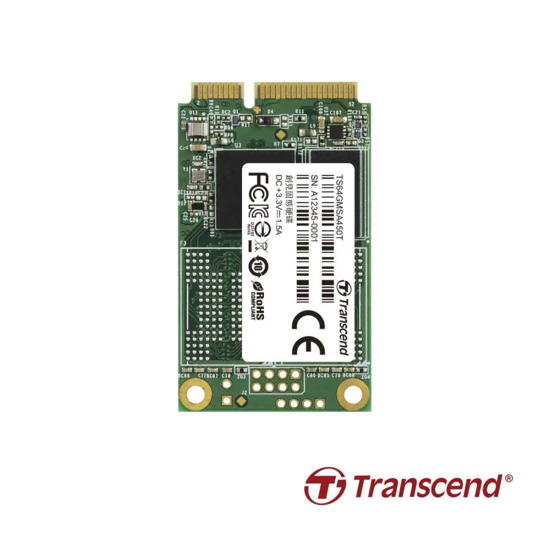Transcend mSATA MSA450T 3D TLC NAND TS64GMSA450T