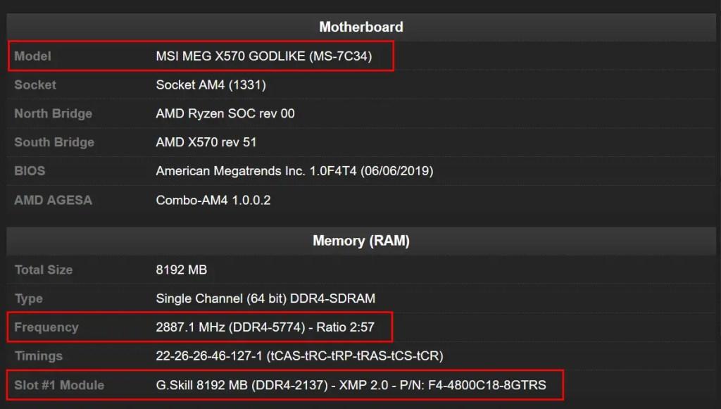 Trident Z Neo DDR4-5774 Record