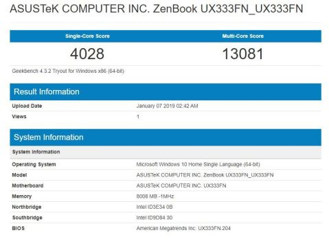 UX333F-Geekbench-4-CPU