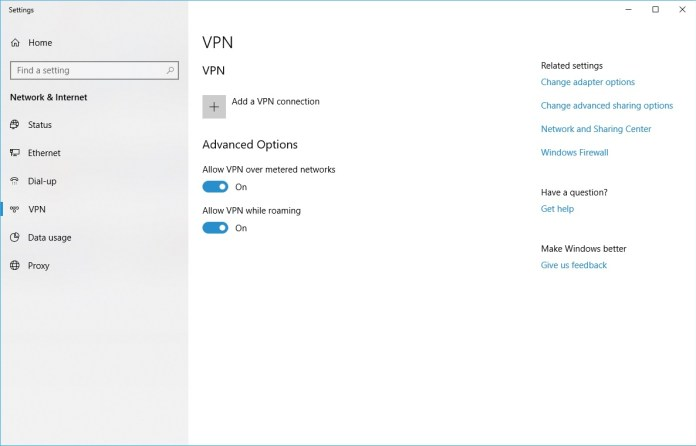 There is a Built-in VPN Client in Windows 10