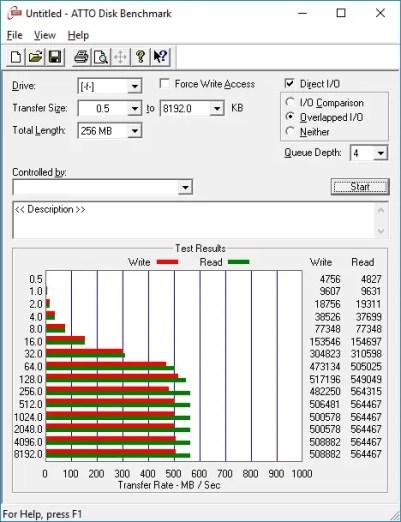 SSD230S ATTO SSD Benchmark