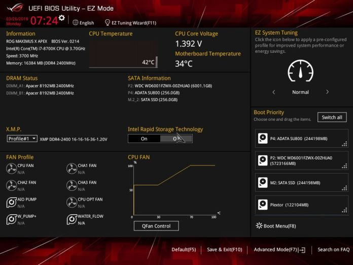 ASUS ROG Maximus X Apex Performance Review