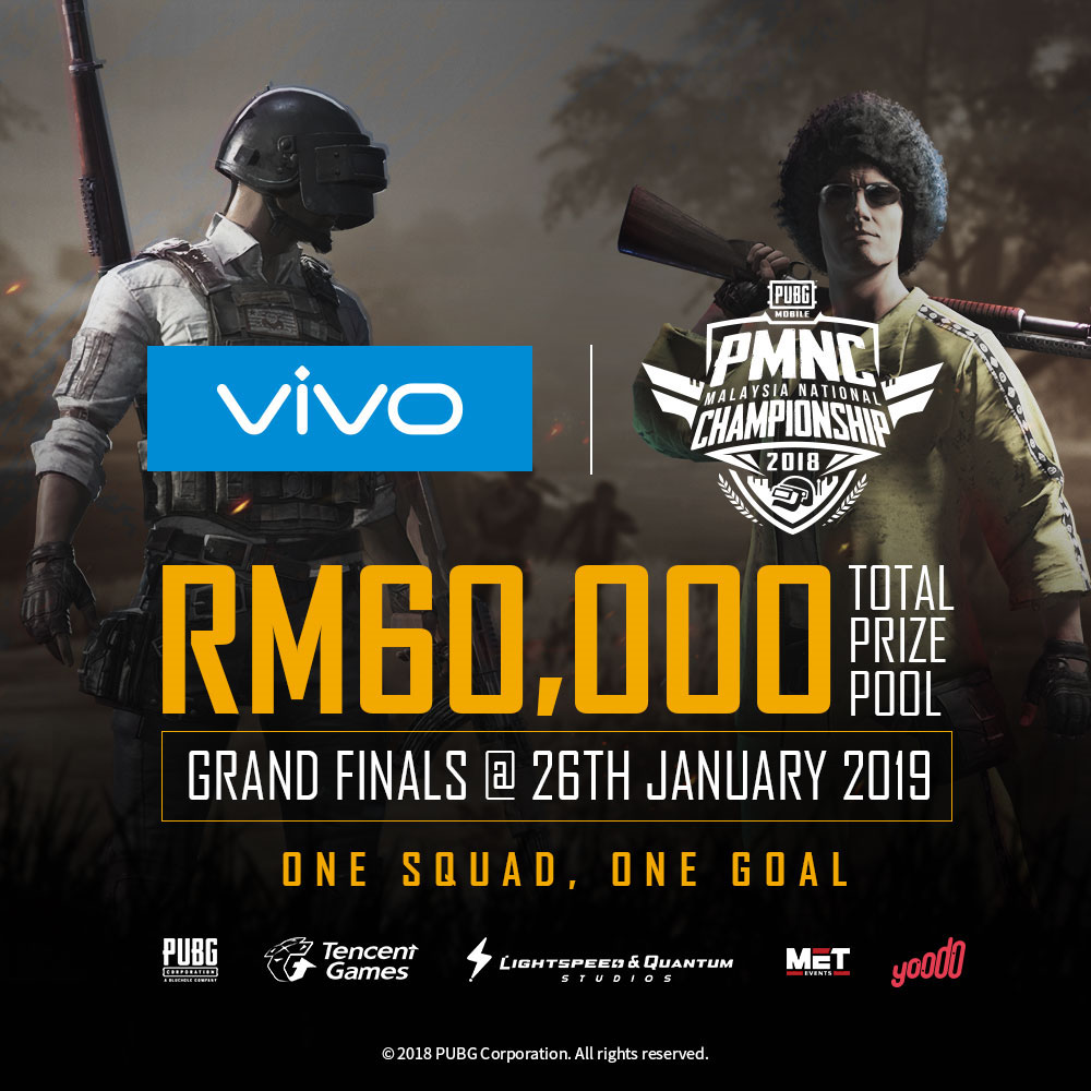 tencent pubg mobile vivo PMNC 2018