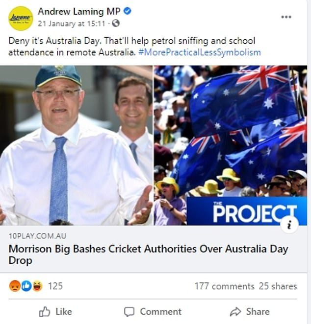 Liberal National MP slammed over 'racist' and 'grubby' Facebook post about Australia  Day – T-Gate