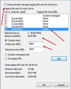 كيفية زيادة حجم الرام بإستخدام فلاش ميموري علي ويندوز 8 ، 10