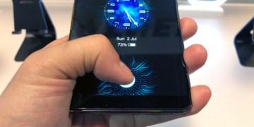 أول هاتف فى العالم ببصمة مدمجة بالشاشة Vivo phone