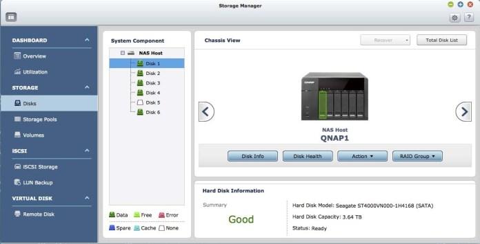 QNAP RAID Storage Manager