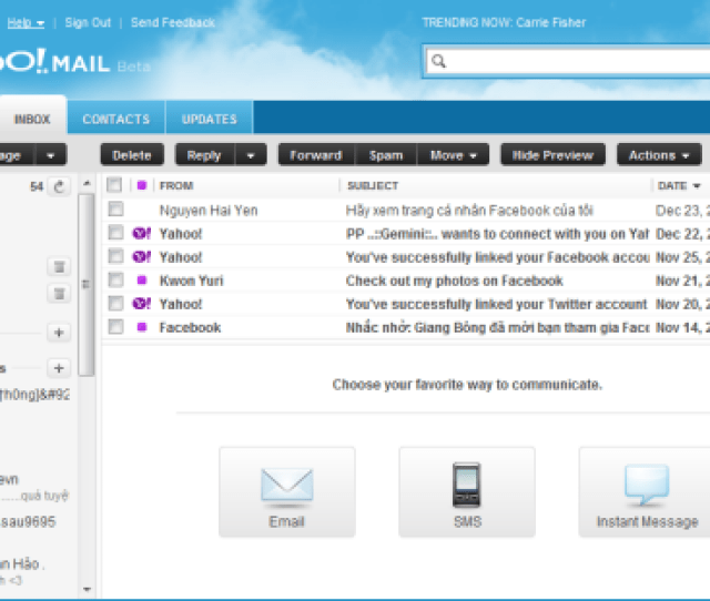 Note Apply To Yahoo Mail Beta