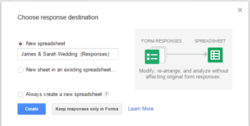 Google Forms Response