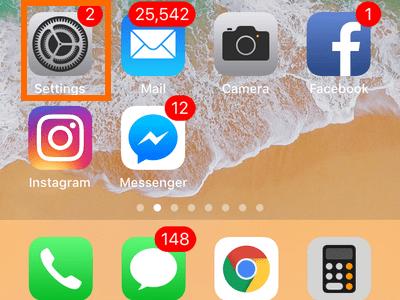iPhone iOS 11 Paramètres
