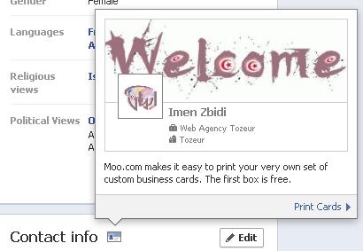 carte هل تريد الحصول على بطاقة شخصية للتايم لاين الخاص بك في الفيس بوك؟