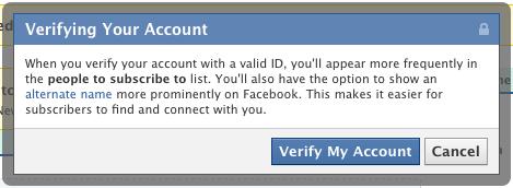 facebook verified accounts1 الفيس بوك يسمح للمشاهير بإستعمال الأسماء المستعارة ولكن بشروط