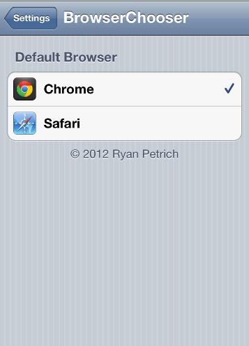 BrowserChooser أداة جديدة تجعل الكروم هو المتصفح الإفتراضي على أجهزة iOS