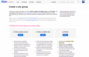 Create Flickr Group