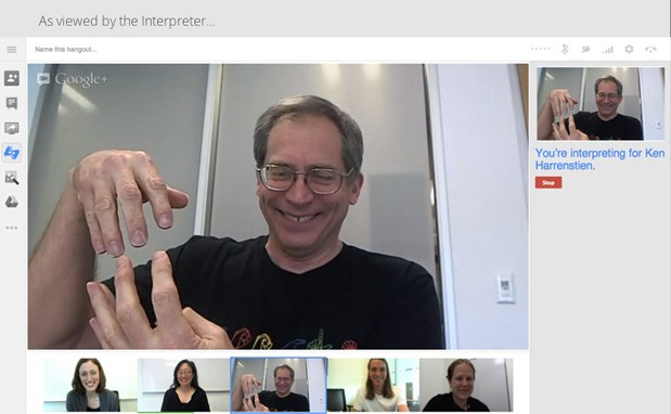 Google Hangouts receive sign language interpreter support