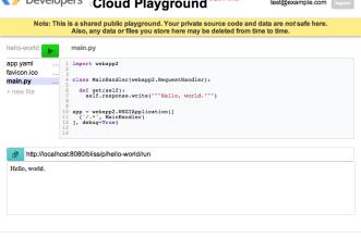 Cloud Playground