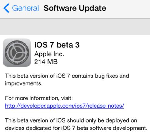 ios 7 beta 3