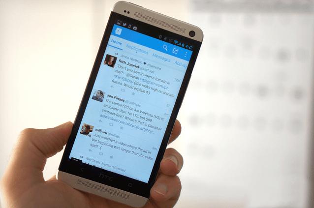 تطبيق تويتر على أندرويد