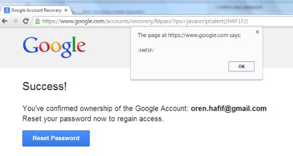 google xss attack