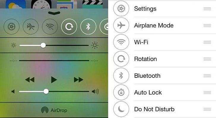 الجيلبريك على iOS 7 تخصيص مركز التحكم