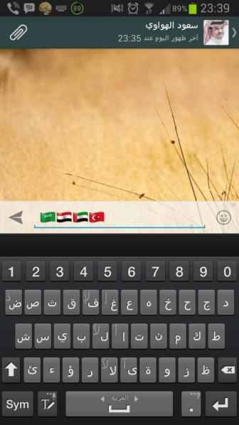علم السعودية وكذلك علم مصر في واتس آب