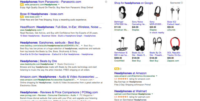 GOOGLE results page