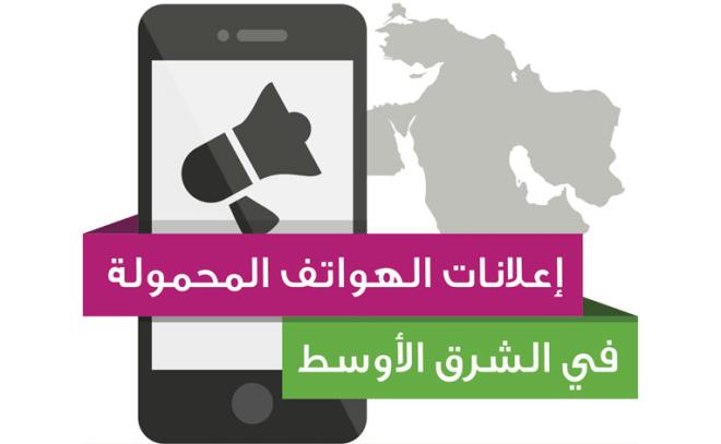 إنفوجرافيك إعلانات الهواتف المحمولة في الشرق الأوسط