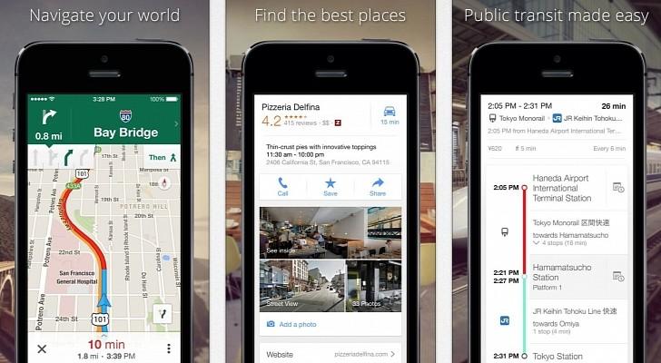 خرائط قوقل على iOS