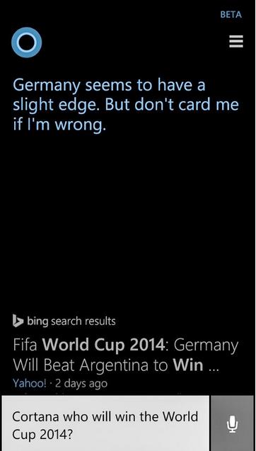 CORTANA WORLD CU مايكروسوفت تنبأت بدقة كاملة الفائزين في الأدوار النهائية من كأس العالم