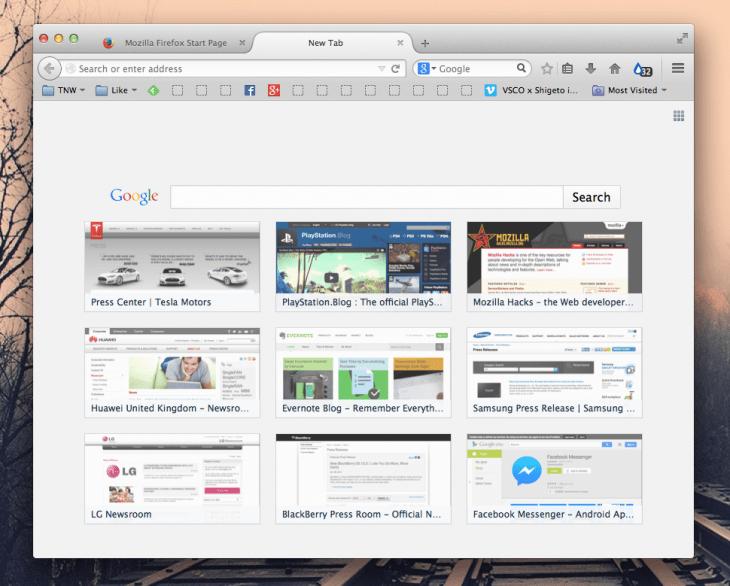 Screen Shot 2014 07 22 at 16.28.48 730x586 فايرفوكس 31 يدرج مربع بحث قوقل لكل علامة تبويب جديدة