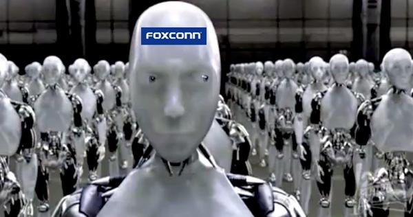 robots foxconn مصنع فوكسكون يستعين ببعض الروبوتات لتصنع أيفون 6