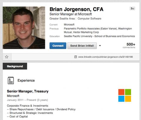 microsoft brian jorgenson الحكم بالسجن على مدير في مايكروسوفت استفاد من المعلومات الداخلية